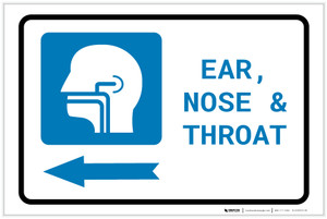 Ears, Nose, and Throat (ENT) Left Arrow with Icon Landscape - Label