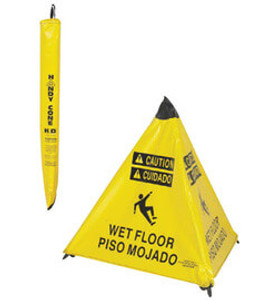 "NMC™ 31"" X 25"" Pop-up Safety ""WET FLOOR"" Caution Cone"