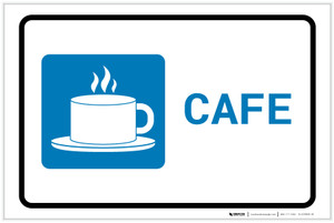 Cafe with Icon Landscape - Label