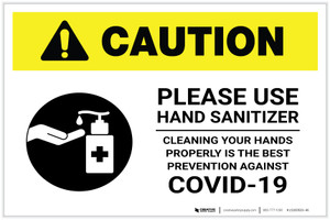 Caution: Cleaning Your Hands Properly is The Best Prevention Against Covid-19 Landscape - Label