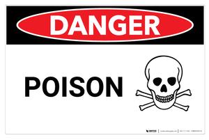Danger: Poison - Wall Sign