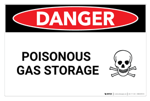 Danger: Poisonous Gas Storage - Wall Sign