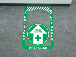 First Aid Kit - Pre Made Floor Sign Bundle