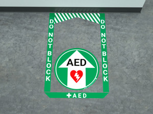 AED - Pre Made Floor Sign Bundle