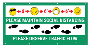 Maintain Distance  Observe Flow with Emoji - Banner