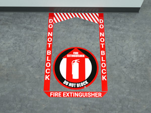 Fire Extinguisher - Pre Made Floor Sign Bundle
