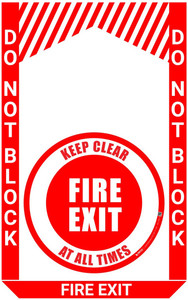 Fire Exit - Pre Made Floor Sign Bundle