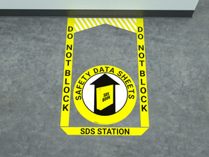 SDS (Safety Data Sheet) Station - Pre Made Floor Sign Bundle