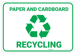 Paper and Cardboard Recycling - Wall Sign