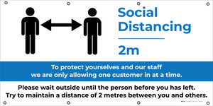 Social Distancing Zone - Maximum People Allowed with Icon - Banner