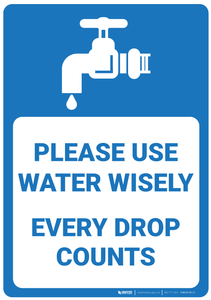 Please Use Water Wisely - Wall Sign