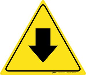 Down Arrow Triangle - Floor Sign