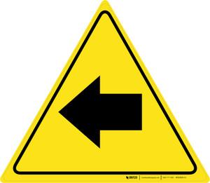 Left Arrow Triangle - Floor Sign