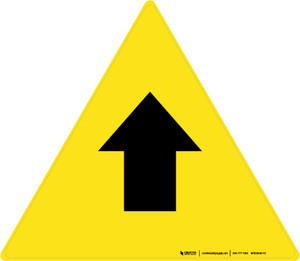 Up Arrow Triangle - Floor Sign