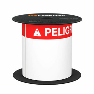 "LabelTac 4 and Pro Model Peligro (Danger) Die-Cut Label Roll - 4""x6"""