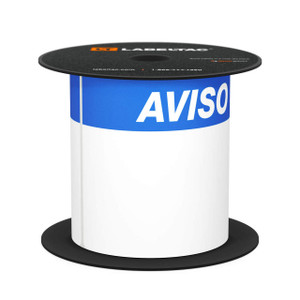 "LabelTac 4 and Pro Model Aviso (Notice) Die-Cut Label Roll - 4""x6"""
