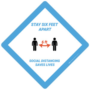 Stay 6Ft Aparts Social Distance Saves Lives - Placard Sign