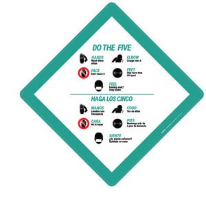 Do the Five Spanish Bilingual Portrait - Placard Sign