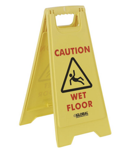 Global Industrial Wet Floor Sign - 2 Sided