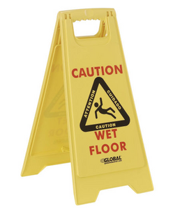 Global Industrial Wet Floor Sign – 2 Sided Multi-Lingual