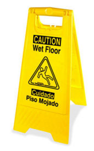Genuine Joe Wet Floor Sign - 2 Sided Bilingual