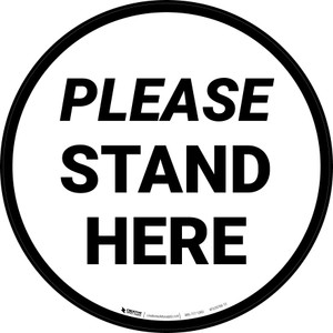 Please Stand Here Circular - Floor Sign