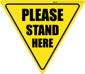 Please Stand Here Yield - Floor Sign