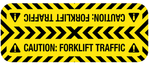 Caution: Forklift Traffic - Door Swing Floor Sign