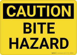 Caution: Bite Hazard - Wall Sign