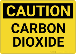 Caution: Carbon Dioxide - Wall Sign
