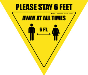 Please Stay 6 Feet Away At All Times With Icon Yield