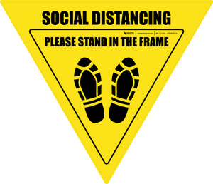 Social Distancing Please Stand In The Frame Shoe Prints Yield