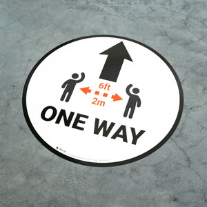 One Way Sign Icon Black - Floor Sign