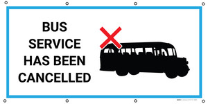 Bus Service Has Been Cancelled with Icon - Banner