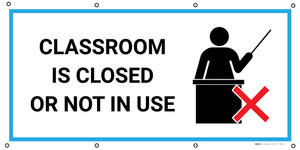 Classroom Is Closed Or Not In Use with Icon - Banner