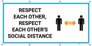 Respect Each Other Respect Each Others Social Distance with Icon - Banner