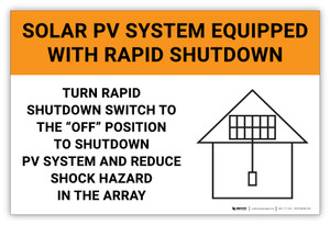Solar PV System Equipped with Rapid Shutdown – Solar Panel Label