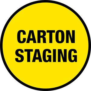 Carton Staging Floor Sign