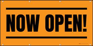 Now Open! Orange Black - Banner