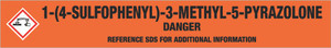 1-(4-Sulfophenyl)-3-Methyl-5-Pyrazolone [CAS# 89-36-1] - GHS Pipe Marking Label