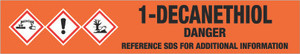 1-Decanethiol [CAS# 143-10-2] - GHS Pipe Marking Label