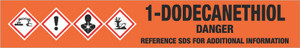 1-Dodecanethiol [CAS# 112-55-0] - GHS Pipe Marking Label