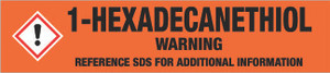1-Hexadecanethiol [CAS# 2917-26-2] - GHS Pipe Marking Label