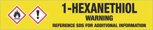 1-Hexanethiol [CAS# 111-31-9] - GHS Pipe Marking Label