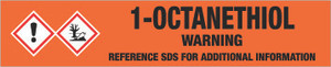 1-Octanethiol [CAS# 111-88-6] - GHS Pipe Marking Label