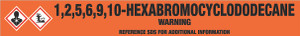 1,2,5,6,9,10-Hexabromocyclododecane [CAS# 3194-55-6] - GHS Pipe Marking Label