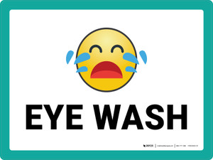 Eye Wash with Emoji Landscape - Wall Sign
