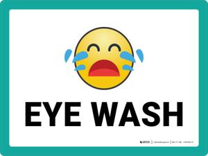 Eye Wash with Emoji Landscape - Wall Sign