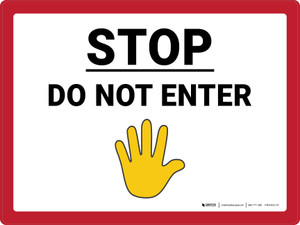 Stop Do Not Enter with Emoji Landscape - Wall Sign