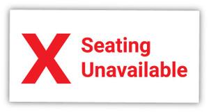 Seating Unavailable X Symbol - Label